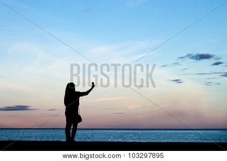 Woman Photographed Beside The Sea,