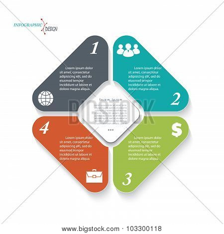 Infographic Template For Business Project Or Presentation. Vector Illustration