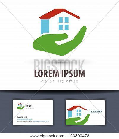 house vector logo design template. building or construction icon