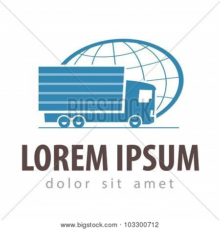 delivery vector logo design template. truck or business icon