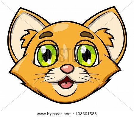 Smiling little kitten head 2