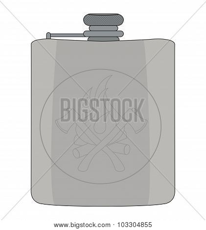 Drinking flask. Color