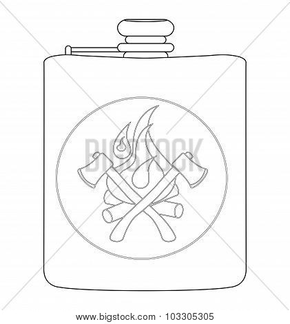 Drinking flask. Contour