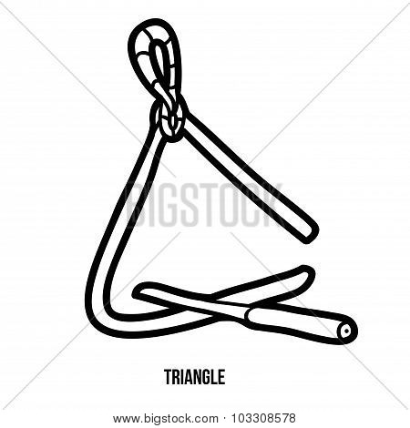 Coloring Book For Children: Music Instruments (triangle)