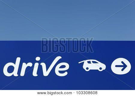 Drive supermarket