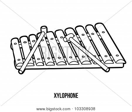Coloring Book: Musical Instruments (xylophone)