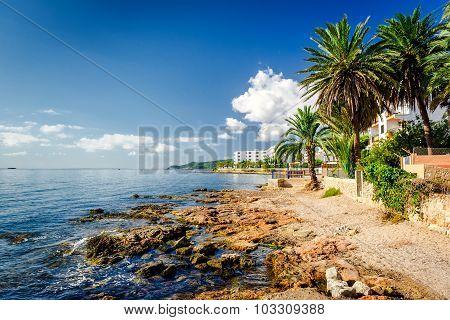 Ibiza Coast. Balearic Islands, Spain