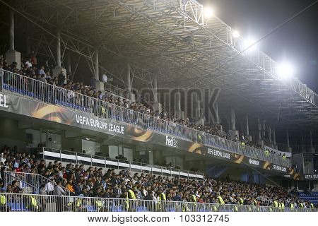 View Of The Grandstand In Uefa Europa League Game Between Qabala And Paok, In Baku, Azerbaijan.