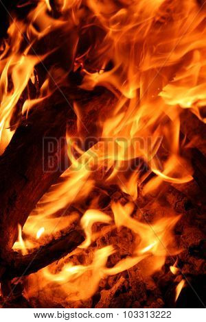Flames Background.