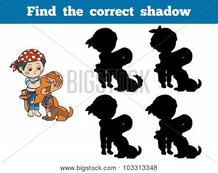 Find The Correct Shadow: Halloween Characters (pirate)
