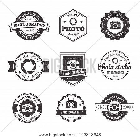 Set of photography studio logos