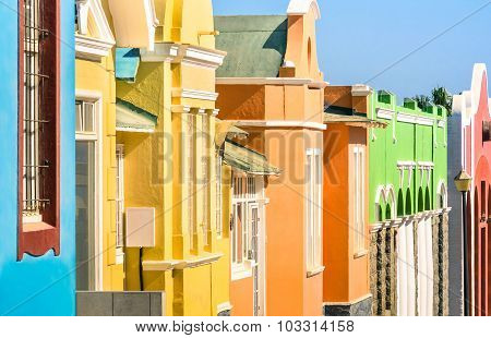 Detail Of Colorful Houses In Luderitz - The Ancient German Style Town In South Namibia
