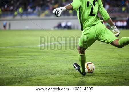 Dmytro Bezotosniy During The Uefa Europa League Game Between Qabala And Paok, In Baku, Azerbaijan.