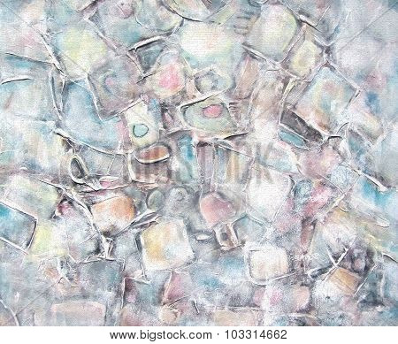 Grunge Abstract Painted Background. Brush Stroke Texture.