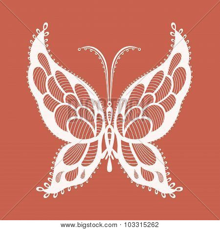 Lacy Abstract Butterfly