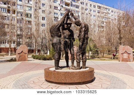 Monument to Soviet soldiers internationalists who fought in Afghanistan