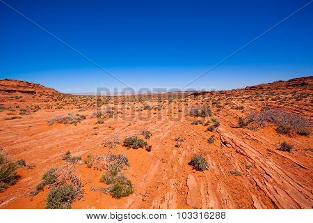 Vast desert near Colorado river canyons, USA