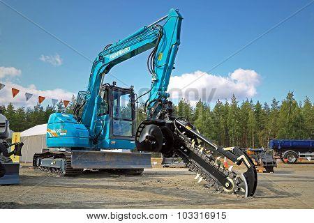 Sunward SWE90UB Excavator Mounted Trencher