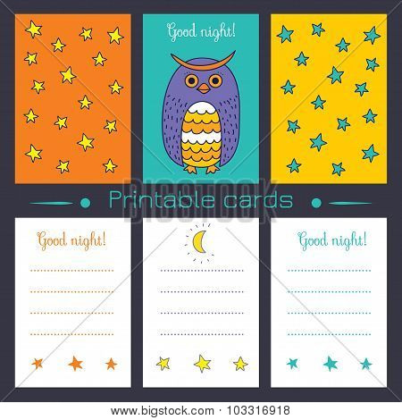 Printable Cards With Owl