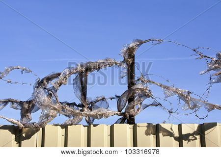 Plastic And Barbed Wire