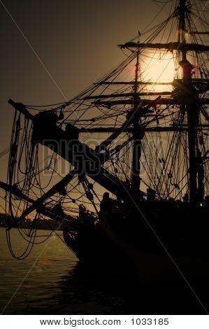 A Sailing Ship In The Sun