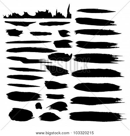 Vector ink stain Vector set of dark blots Isolated on white background Abstract vector background se