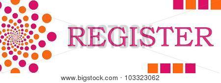 Register Pink Orange Dots Horizontal