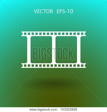 Flat icon of video strip