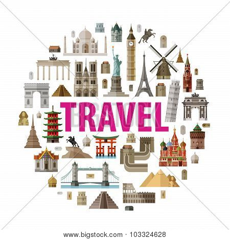 travel vector logo design template. world or vacation icon