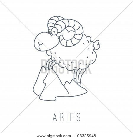 Illustration Of The Ram (aries)