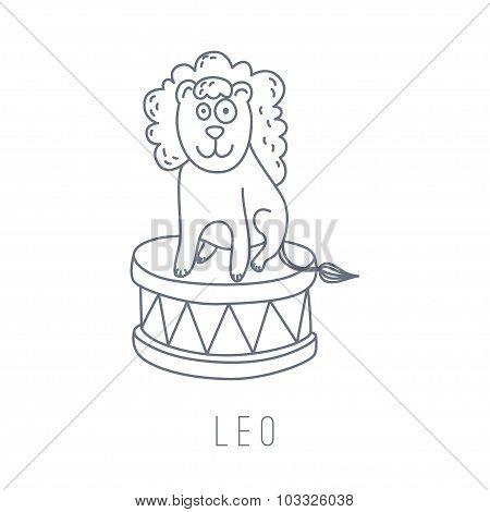 Illustration Of The Lion (leo)