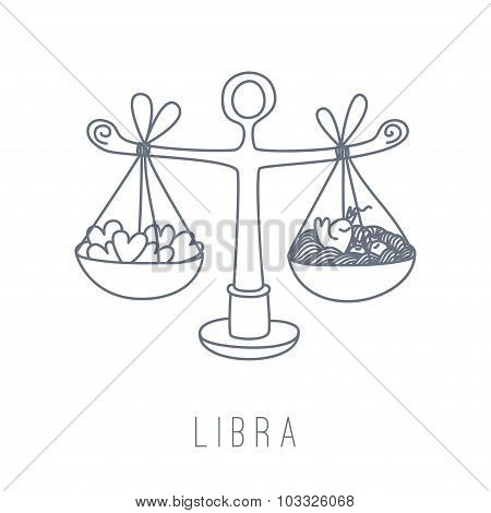 Illustration Of The Scales (libra)