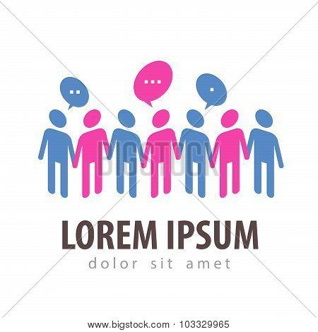 communication vector logo design template. teamwork or forum icon