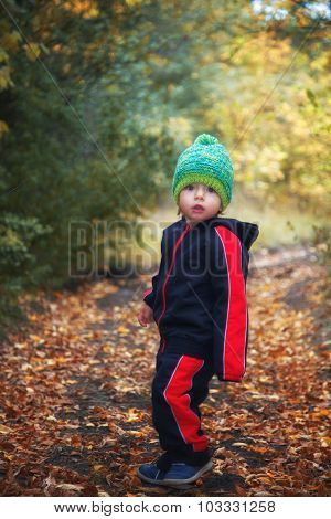 Baby Boy In The Woods