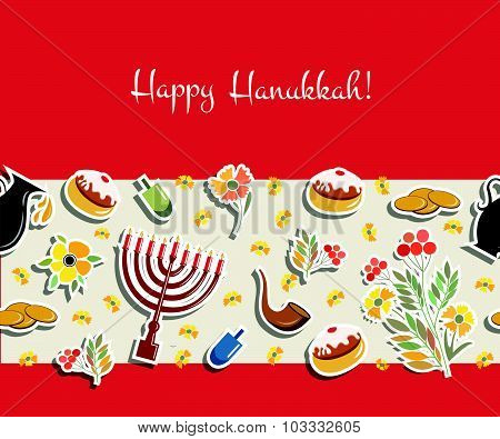 Vector Collection Of Labels And Elements For Hanukkah