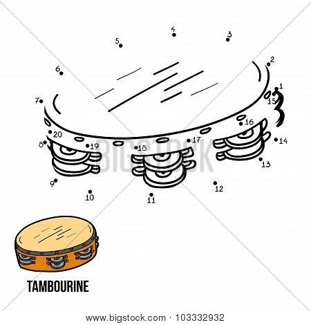 Numbers Game For Children: Musical Instruments (tambourine)