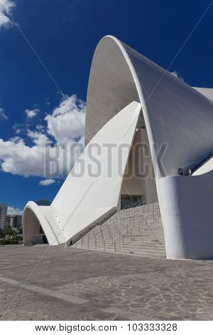 Tenerife, Spain - September 18: Auditorio De Tenerife On September 18, 2015 In Santa Cruz, Tenerife