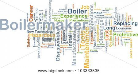 Background concept wordcloud illustration of boilermaker