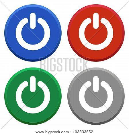 Power Off Icon Set