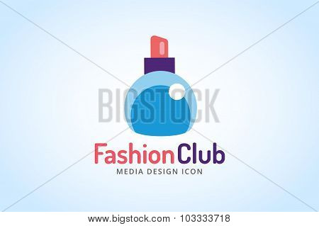 Perfume bottle sign icon logo glamour perfume symbol isolated