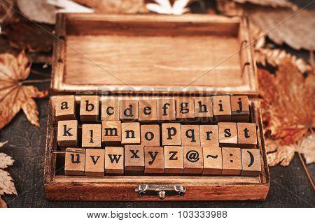 Wooden Stamps Alphabet