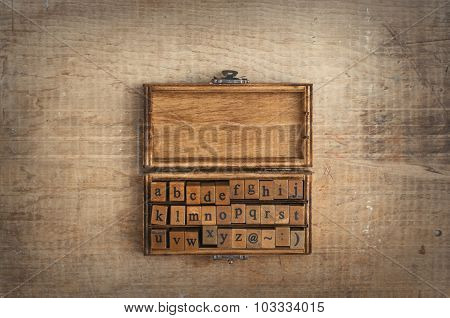 Wooden Stamps Alphabet