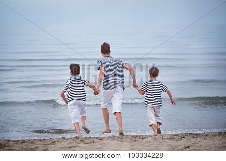 Three Merry, Happy, Brother Plays At Sea