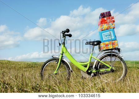 Bike with gifts