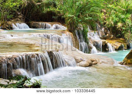 Tat Kuang Si Falls, Luang Prabang, Laos