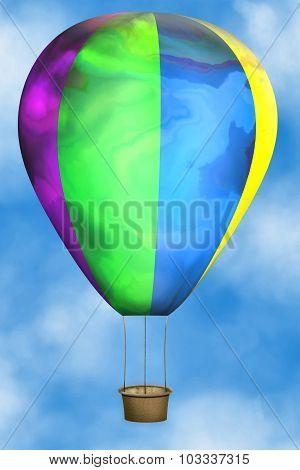 colored hot-air balloon