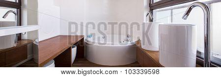 Stylish Wooden Bathroom