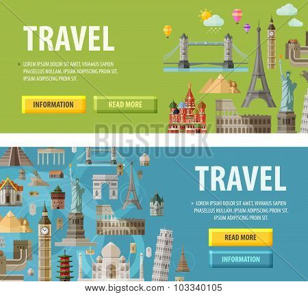 travel vector logo design template. vacation or landmark icon