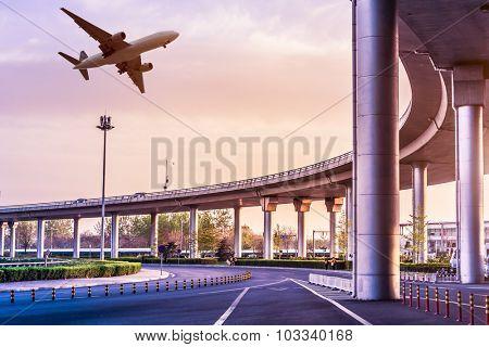 Metro pass through airport in Beijing china