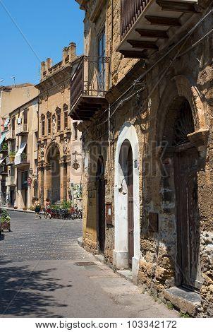 Via Giacomo Matteotti And La Chiesa Di Maria Santissima Della Catena Church. Cefalu, Sicily.